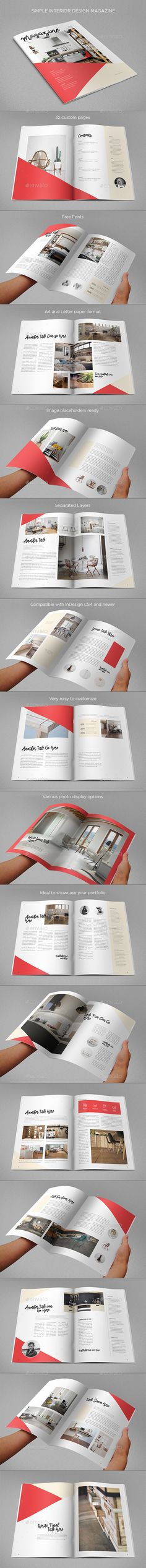 Simple Interior Design Magazine by AbraDesign SIMPLE INTERIOR DESIGN MAGAZINEClean, modern and simple design ideal for any purposes. Very easy to adapt and customize. DETAILS