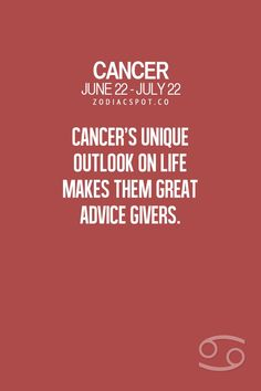 I frequently post relationship advice...but it's OK. You see, I'm a Cancer. ~ Jeanne Rivard