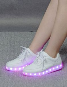 How charming about this LED shoes,Both for Men and Women.This fantastic shoes that I ever seen before. It puts LED lights around the upper of fashion sneakers. When the button is switched on, the LED lights are turned on and give colorful bright lights.Total 7colors are available.