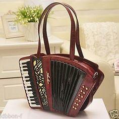 Accordion Bag Organ Chic Style Shaped Handbag Lolita Classic Vintage Antique | eBay