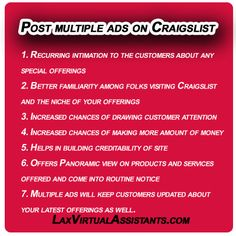 How to post multiple ads on Craigslist and their Benefits:- To learn about how to post multiple ads on Craigslist is something that must be done before you actually plan to offer your services on this platform. #howtopostmultipleadsoncraigslist