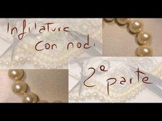 tutorial che spiega come infilare una collana di perle con i classici nodini www.fantasieluminose.wordpress.com
