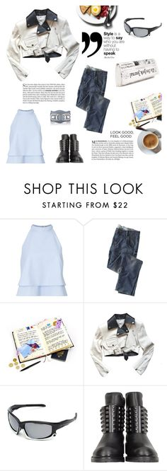 """""""329"""" by believelikebreathing ❤ liked on Polyvore featuring Vanity Fair, Miss Selfridge, Wrap, Jean-Paul Gaultier, Kate Spade, DKNY and Balenciaga"""