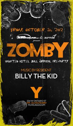 Black Light Party at Y and Shermanology at Mid, Friday Zomby at Y, Haunted Hotel Ball, Knife Party, Kings of Neon!