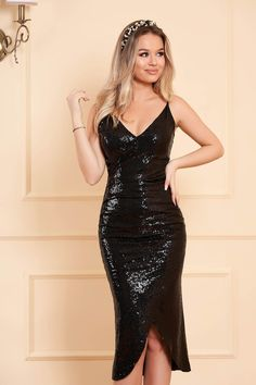 StarShinerS black occasional dress with sequins with inside lining slightly elastic fabric Evening Dresses, Formal Dresses, Fabric Textures, Dress Cuts, Product Label, Sequin Dress, Occasion Dresses, Nasa, Size Clothing