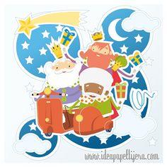 Graphic design, Draw, ilustración, navidad, reyes magos