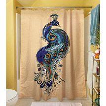 "Walmart: Thumbprintz Peacock Shower Curtain, 71"" x 74"""