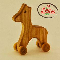 Lotes Wooden Toys: Wheelie Animals