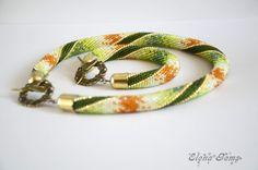 SALE Bead crochet set bracelet and necklace The от ElenaGems