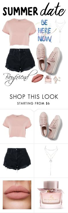 """""""My style for our date tonight😍🏝"""" by keren300 ❤ liked on Polyvore featuring Topshop, Keds, Nobody Denim, Charlotte Russe, Burberry and FOSSIL"""