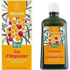 Weleda ARGOUSIER Jus Bio riche en Vitamine C naturelle, permet de vous revitalisé et de vous fortifié. http://www.pharmacie-sante.com/weleda-jus-d-argousier-bio-200-ml.html