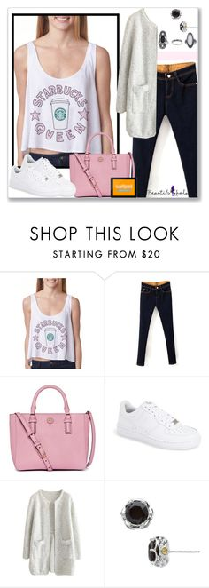"""BHalo 24"" by littledeath11 ❤ liked on Polyvore featuring Tory Burch, NIKE, Tacori, Topshop and bhalo"