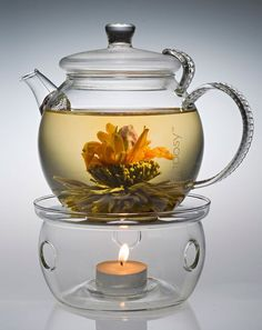 Loose teapot with warmer - Cute idea! But I don't think it would keep my tea hot enough :)