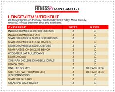 LONGEVITY WORKOUT  ---  Workout moves to keep you younger, leaner, and sexier longer!