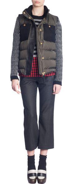 Marni Contrast Pocket Puffy Vest