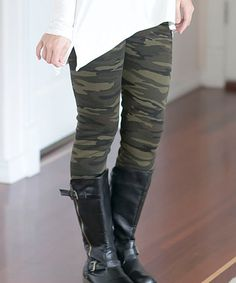 Another great find on #zulily! Olive Camo Leggings #zulilyfinds