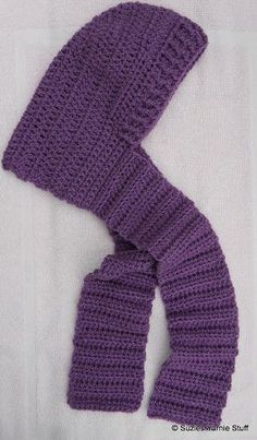 Blustery Day Hooded Scarf for Kids | AllFreeCrochet.com