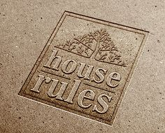 HOUSE RULES logo by Kris