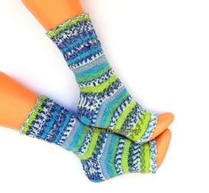 Knitted yoga socks with heel Boot socks Dance socks Blue green white gray yoga socks Pilates socks Pedicure socks Feet warmers Leg warmers by mittenssocksshop on Etsy