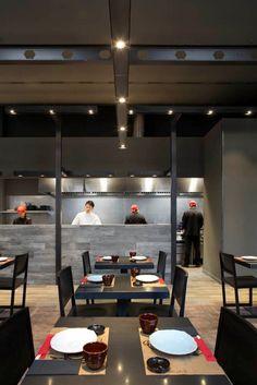 Estudi Josep Cortina has designed the Umo Japanese Restaurant as part of Hotel Catalonia in Barcelona, Spain.