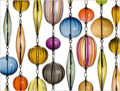 so pretty... they can be a wall decorations, pendant lighting, space dividers.