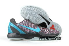Nike Zoom Kobe 6 3D Red Gray Volt Black 448693 001 $56.99