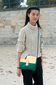 Moda en la calle street style tendencia beige