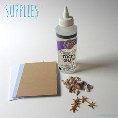 DIY Seashell Gift Tag Supplies