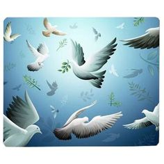 Retro Style Non-Slip Rubber Computer Office Mousepad Gaming Mouse Pad Bird