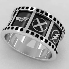 Dc Universe Superhero Wedding Band... made by Nenad Cicmil Starting at: $950
