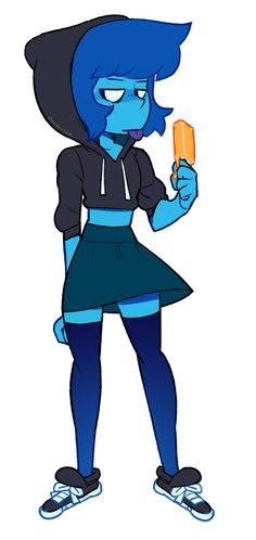 I was looking at clothes on amazon and realized the outfit I wanted to buy was a very Lapis look so I just drew it on her instead. lapis lazuli saved me money.