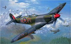 Spitfire Mk. IXC of the 43rd Sqdn RAF over Italy in 1944