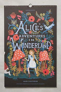 2016 Alice's Adventures In Wonderland Calendar #anthrofave