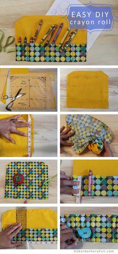 DIY.. Make A Travel Crayon Roll | Haberdashery Fun