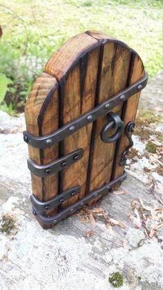 Fairy Tree Houses, Fairy Garden Houses, Fairy Gardens, Garden Art, Garden Design, Garden Doors, Fairy Doors, Rustic Doors, Wood Doors