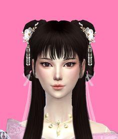 Art Clothing, Sims 4 Clothing, Geisha Hair, Sims Baby, Muebles Sims 4 Cc, Elegant Ponytail, Sims 4 Dresses, Kawaii Hairstyles, Sims Ideas
