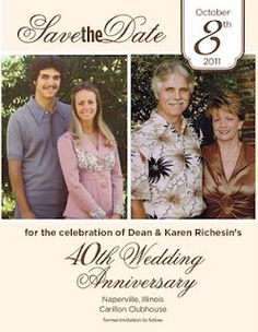 Ive Recently Finished Working On A Save The Date Card For My Parents Wedding Anniversary Celebration
