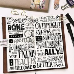 Throwback to when I first dabble in journal lettering and then I got addicted to Traveler's Notebook. My days are going to get better soon and I'll be back at it! Hand Lettering Quotes, Calligraphy Quotes, Creative Lettering, Script Lettering, Typography Letters, Brush Lettering, Lettering Design, Handwritten Fonts, Hand Lettering Tutorial