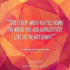 "Estoy leyendo "" The Bad Boy Stole My Bra ""en #Wattpad.  #Frase Wattpad Quotes, Wattpad Books, Wattpad Stories, Frases Wattpad, George Shelley, Dramione, Aleph Paulo Coelho, Storm And Silence, Ange Demon"