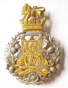 """victoriansword: """" """" Scottish Duke of Edinburgh's Own Edinburgh Militia Artillery Victorian Officer's helmet plate circa """" """" Military Ranks, Military Cap, Military History, Badge, Army Hat, King And Country, Celtic Designs, British Army, Coat Of Arms"""