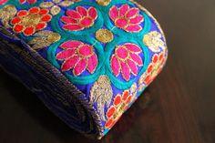 1 Yard Extra Wide Blue Silk Fabric by ArtsyCraftsyShoppe on Etsy
