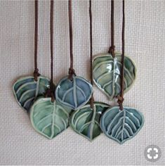 Items similar to Wall hanging, or Wind Chime, Ceramic Aspen Leaves on Etsy Ive a passion for trees. Leaves are the symbol for Immortality, as they will never die, wilt or turn brown! Each Aspen leaf has a word that I carved Ceramic Pendant, Ceramic Jewelry, Ceramic Beads, Clay Beads, Polymer Clay Jewelry, Ceramic Fish, Ceramic Clay, Ceramic Pottery, Pottery Art