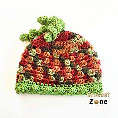 Fall Harvest Beanie Hat - free all sizes crochet pattern by MA Santos / Crochet Zone.