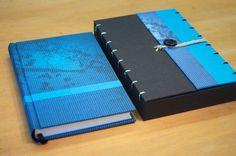 handgemaakt notitieboekje met doosje