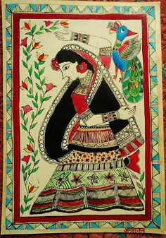 The Madhubani art, a famous Indian style of painting, only uses colours and dyes that are completely natural.