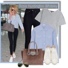 Rosie Huntington-Whiteley on June 6th by anne-mclayne on Polyvore featuring Frame Denim, rag & bone, Rodarte, Yves Saint Laurent, Jimmy Choo and Whiteley