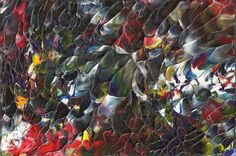 Original Acrylic Abstract Wave of Color Painting in by rostudios, $15.00