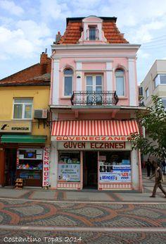 View of traditional houses in Edirne, Marmara_ Turkey