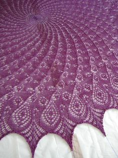 Queen Anne's Lace Shawl #2 (detail) by TomH-PA ... ahhh ... this is a free pattern on Ravelry