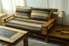 diy pallet couch with coffee table